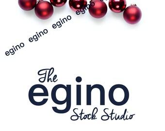Styled Stock Photography | Styled Stock Photo | Styled Stock | Styled Photography - Christmas - Red Ornaments