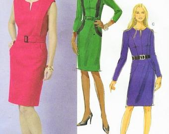 Womens Princess Seam Dress OOP Butterick Sewing Pattern B5521 Size 6 8 10 12 Bust 30 1/2 to 34 UnCut Office Dress Pattern