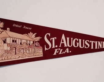 A Vintage Souvenir Pennant from St. Augustine Florida