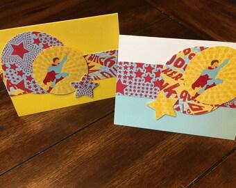 Super Hero cards - set of 2