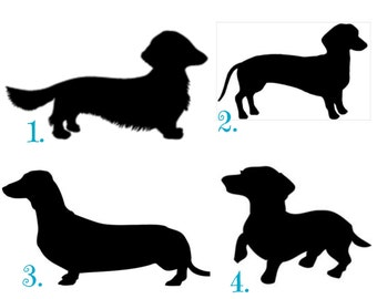 Dachshund Decal-Dachshund Sticker-Dachshund Car Decal-Vinyl-Personalized-Monogram-Custom-Monogram Decal-Dog-Weiner Dog-Weiner Dog Decal