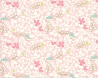 Vine Toss in Bloom ..  Brenda Riddle Designs .. CAROLINE collection  Moda fabric 18655 12 ..  Pink colorway