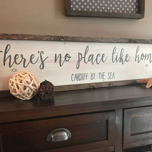 Thereu0027s No Place Like Home, Hand Painted Wood Sign, Country Home Decor, Gift