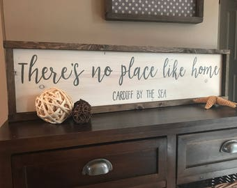 Beau Thereu0027s No Place Like Home, Hand Painted Wood Sign, Country Home Decor, Gift