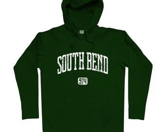 South Bend 574 Hoodie - Men S M L XL 2x 3x - South Bend Hoody, Sweatshirt, Indiana - 4 Colors