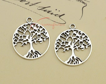 20PCS--29x25mm Lucky Tree charms, Antique Tibetan Silver Tree of life charm Pendants, DIY Findings, Jewelry Making