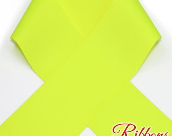"""3"""" Neon YELLOW (Ansi Yellow) - Select Amount of Yards - Great for Hair Bows"""