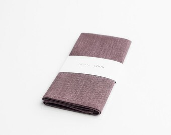 Dusty mauve pocket square - MADE TO ORDER