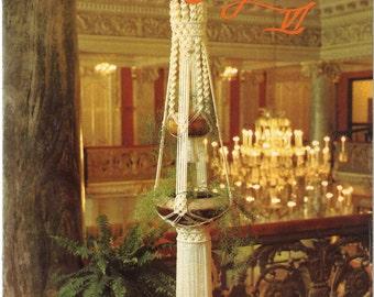 Macramé Elegance VI • 1970s Macrame Knots How To Instruction Pattern Book • 70s Vintage Plant Pot Hanger Globe Hangers Knotwork • Retro PDF
