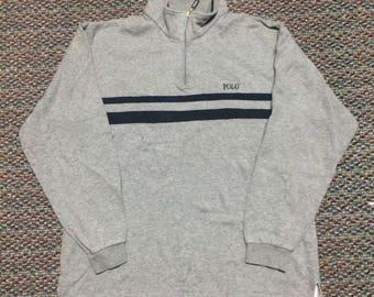 Rare!! vintage Polo sweatshirt halfzipper..nice condition