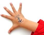 Safety Tattoos, Lost Child, Temporary Tattoo, Emergency Contact Tattoo, Kids Tattoo, Custom Tattoo, Personalized Tattoo, Anchor Tattoo
