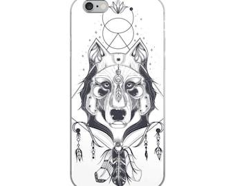 Boho Wolf iPhone Case