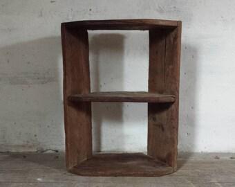 Primitive Cabinet, Rustic Shelf Cabinet, Primitive Furniture, Wood Corner  Cabinet, French Wood Cabinet, Industrial Cabinet, Oak Wood Cabinet
