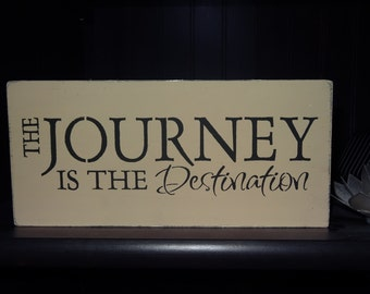 The Journey is the Destination Wooden sign graduation gift