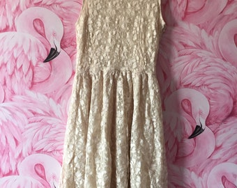 Vintage Cream Lace Summer Dress