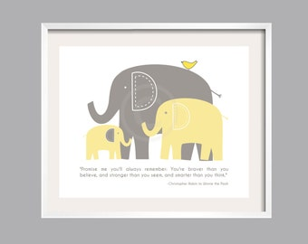 Always Remember Print, Wall Art, Inspirational, You are braver than you believe, Nursery Decor, Baby shower gift, Quote, 16x20wall art