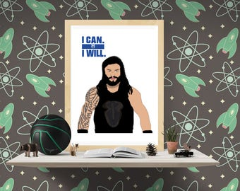 WWE Roman Reigns Poster