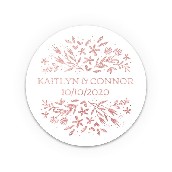 Personalised gift, Let the adventure begin wedding, Wedding stickers personalized for favors, Wedding favours for guests