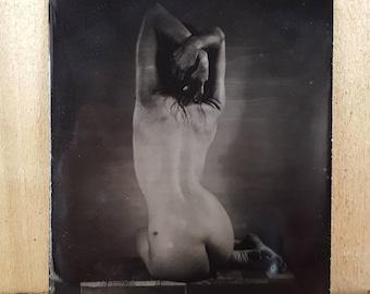 Nude model figure study tintype Kelsey-01