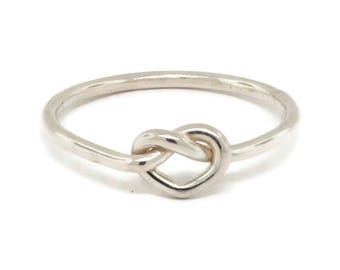 Sterling Silver Love Knot Ring - Infinity Ring - Eternity Ring - Celtic Knot Ring - Minimalist Ring - Promise Ring for Her