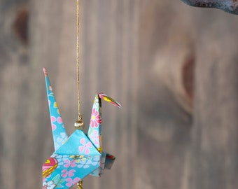 Authentic Large Origami Paper Crane ornament, Peace Crane Ornament, Baby Shower Gift