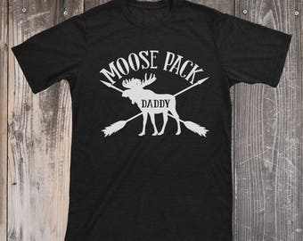 Moose Pack Shirt, Moose Pack Daddy, Moose Pack Papa, Moose Pack Top, Tops for Dads, Woodland Top, Moose Shirt, Gifts for Dads