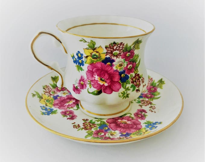 Balmoral Castle Bone china England Cup and saucer