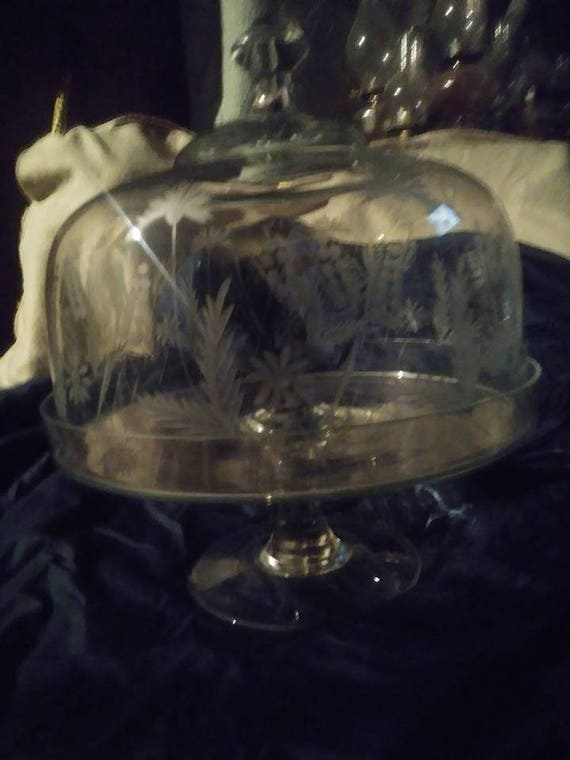 & Vintage Princess House Cake Plate with Stand