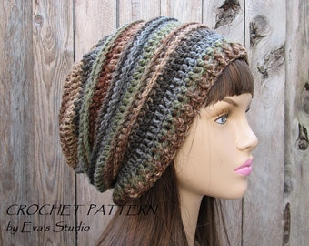 Crochet Hat - Slouchy  Hat, Crochet Pattern PDF,Easy, Pattern No. 30