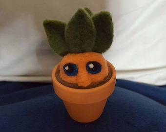 Potted Mandrake Root Needle Felted Creature