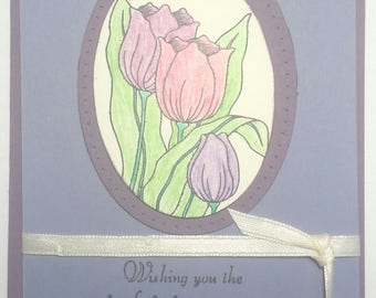 Mother's Day Card Kit - Purple Flowered