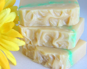 Daisy Chain.  Honeysuckle and Lily Cold Process Soap