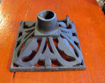 Cast Iron Christmas Tree Stand / Rustic Vintage Christmas Tree Stand / Flag Pole Stand