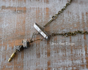 Modern Stone Long Necklace