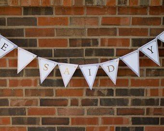 Custom Wedding Banner with names