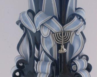 Hanukkah Pillar Candle