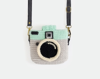 Crochet Case for Fuji Instax Camera - Lomo Camera/ Gray Color