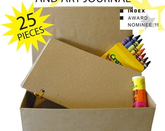Make Your Own Box and Art Journal Kit for personal Expression, used by therapists