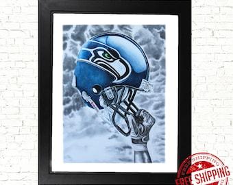 Seattle Seahawks Art print seattle WA