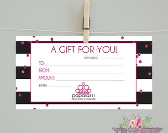 Paparazzi/ Paparazzi Gift Card/Paparazzi accessories marketing material