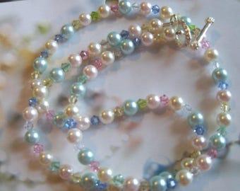 Princess Dianna  Swarovski Crystal and Swarovski pearl necklace
