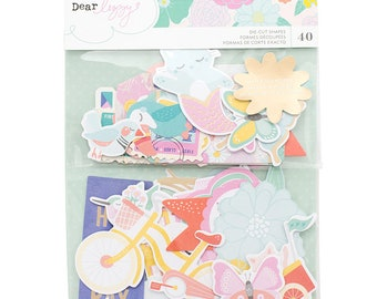 Dear Lizzy Stay Colorful Ephemera Die Cut Shapes  -- MSRP 5.00