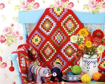Let's Play with Color Crochet and Knit Goods Petit Maison De Tricot by Kazuko Ryokai- Japanese Craft Book MM