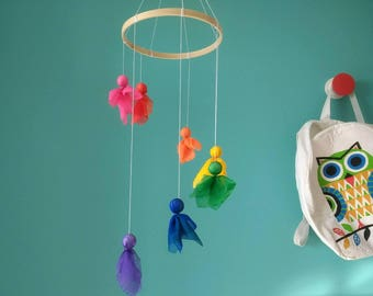 Forest Fairy Mobile. Inspired in Montessori. free shipping¡¡