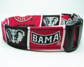 Alabama Crimson Tide Dog Collar