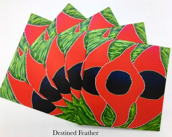 Indigenous Art Greeting Card, Aboriginal Art Cart, Dot Painting Card, Cheeditha Art Group Card, Pilbara Indigenous Art Card, Australian Art