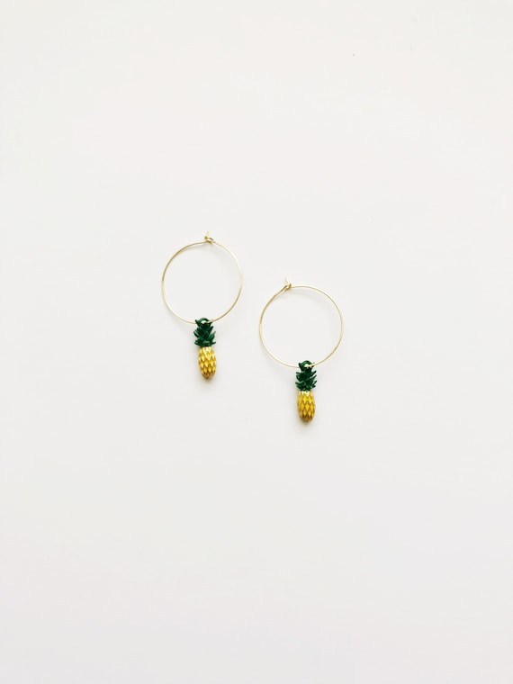 Pineapple Crush Hoops *summer exclusive*