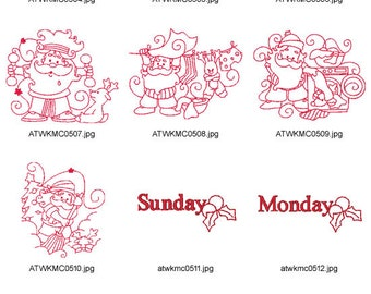 Christmas-Wonderful-Week ( 17 Machine Embroidery Designs from ATW ) XYZ17B