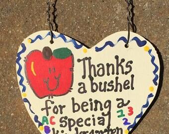Kindergarten Teacher Gift 6001 Thanks a Bushel Kindergarten Teacher