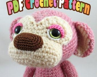 PDF Amigurumi / Crochet Pattern Sleepy Eye Monkey – Lulu and Kona with Banana Bags CP-16-3338